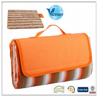 100% Polyester Printed Fleece Outdoor Heated Picnic Blanket