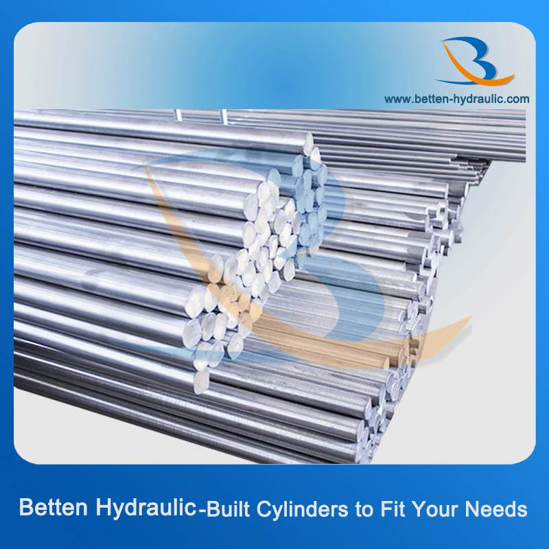 Stainless steel/ Carbon steel heat treatment piston rods with Chrome Plated