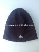 2013 Fashion custom teenagers knitted embroidered beanie hat