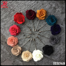 handmade 5cm vintage blooming camellia fabric flower lapel pin for men suit