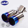 GTHOSE Universal Fits Car Rear Tail Dual Exhaust Pipe Tail