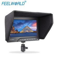 Multi-function Professional Field Camera1080P HDMI Input LCD Monitor VGA 7 inch with F970 DU28 E6 Battery Plates