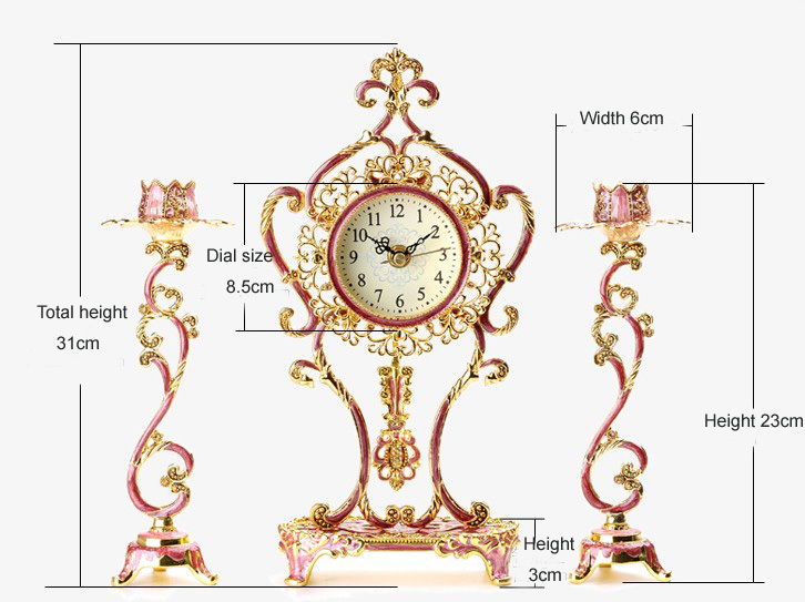 European Desk Antique Desk Table Clocks wedding souvenirs