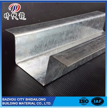 Profession manufacturer competitive price galvanized steel c z u channel