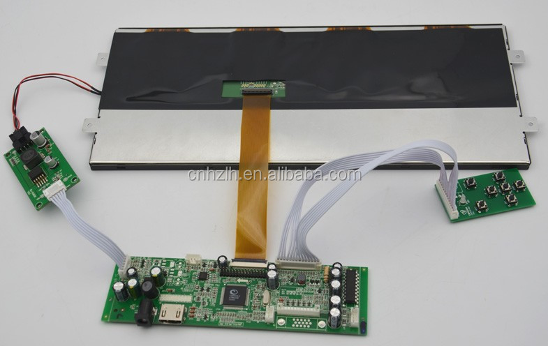 12.3 inch high brightness 1920x720 tft lcd panel with full view angle