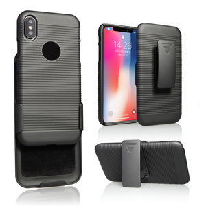 High quality Heavy Duty Armor Defender Shockproof Protective Kickstand hard plastic Cell Phone Case for iPhone X 7 7plus 8 8plus