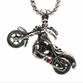 Retro Motorbike Chain Pendant Stainless Steel Necklace For Men