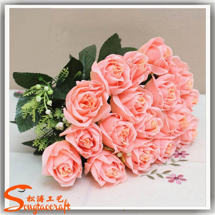 Chinese High Quality Silk Flowers Nosegay Of Artificial Flower