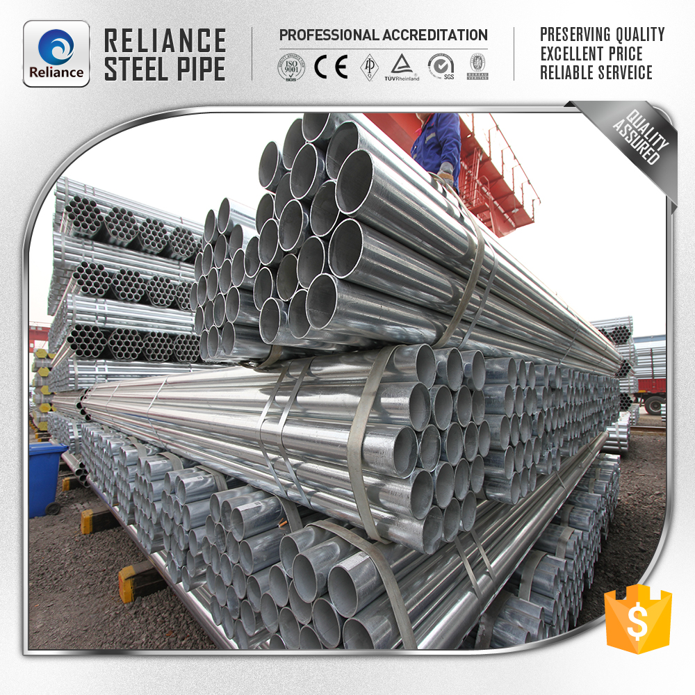 219MM galvanized metal pipe for Water transport
