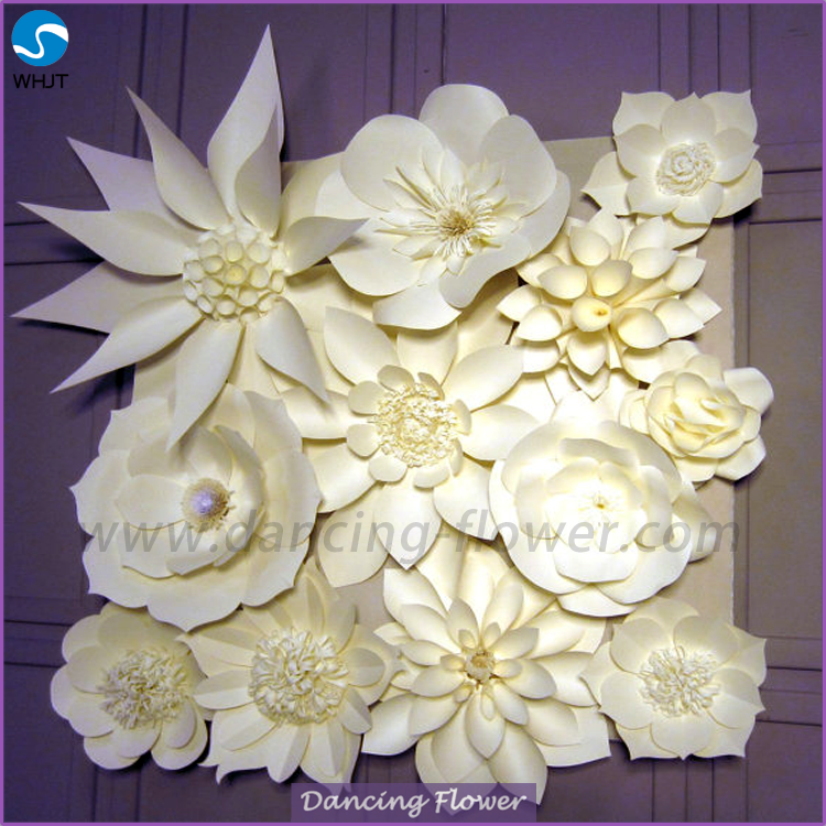 Custom size white make handmade paper flowers