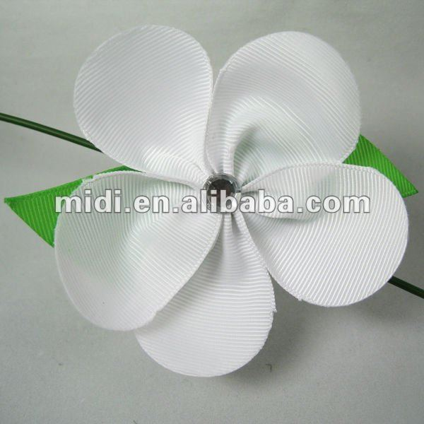 Clear polyester fabric flower pins for clothes/shoes