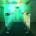 1.2 m height beautiful wedding decoration centerpieces, wedding silver decoration flower stand walkway /pillar/column (MWS-017)