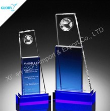 Modern Best Sell Globe Crystal Gifts Corporate Gift Trophy Memento
