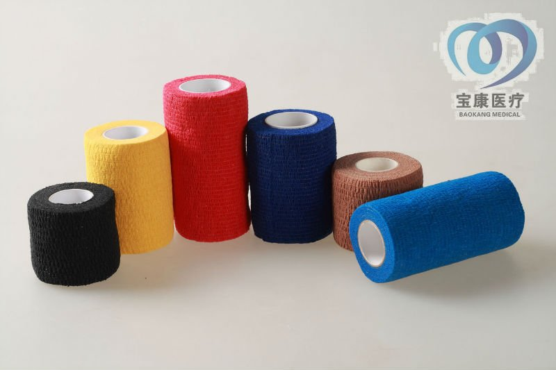 colored elastic bandage Nonwoven Elastic Self Adhesive adherent Wrap Bandage