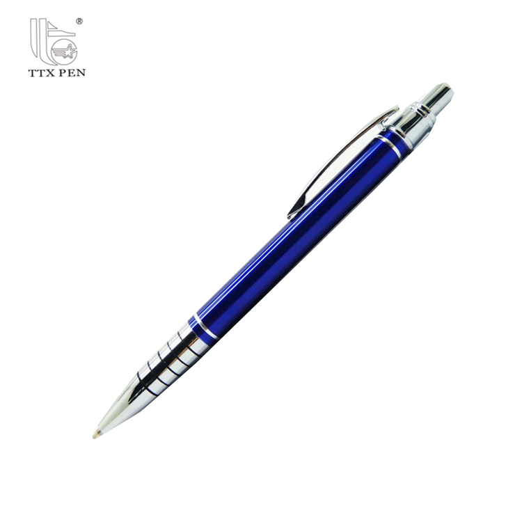2018 China manufacturer hotel use promotional click metal ball pen with logo