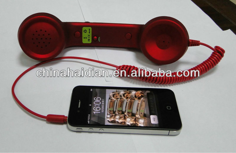 Retro Corded Mobile Phone Handset for all smart phone