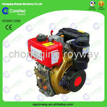 50HZ 3000rpm 2 cylinder air cooled diesel engine, 2013 hot selling electric start small reconditioned engines