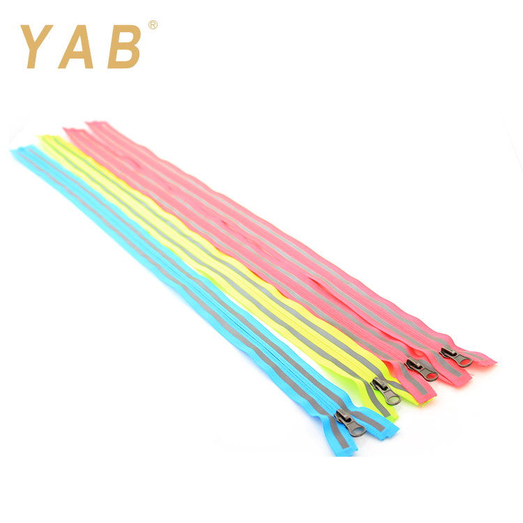 YAB Hot Selling Producten 5 # Open Einde Onzichtbare Reflecterende Nylon Rits