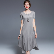 Oversized long frock for women plain draped dress