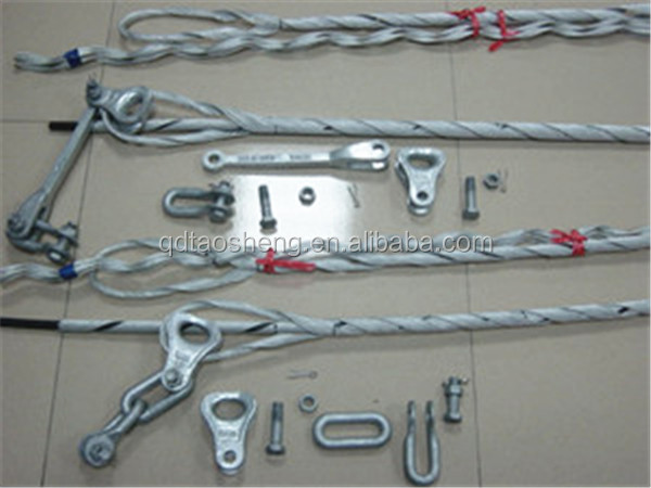 Preformed tension clamp for adss cable