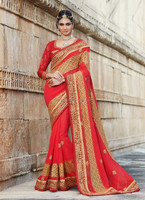 Wholesale indian embroidery designs bollywood saree R7610
