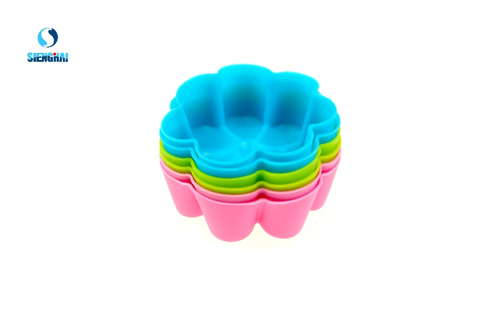 6 Pcs Silicone cake kitchen tool flower wintersweet shape cake mold