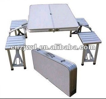 Folding Camping Table And 4 Stools Table And Chair Set