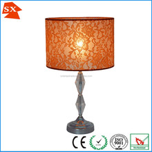 plastic trim lace fabric lampshade cover for bathroom chandelier light