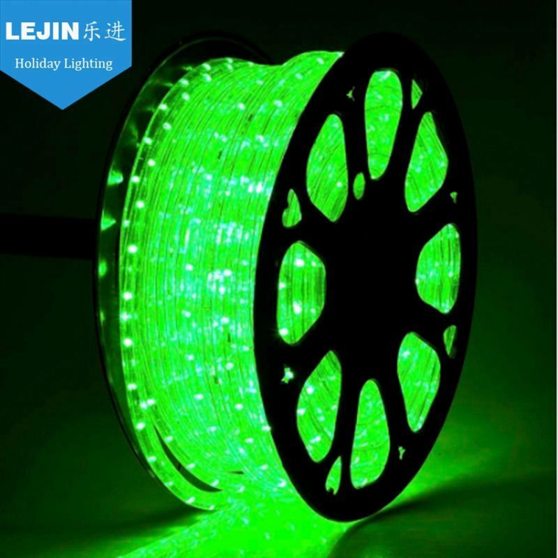 CE RoHS GS UL christmas IP65 50m green rope light for holiday