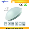 "Worbest 14"" 25W Round Mushroom flushmount radar motion sensor plastic pendant led ceiling light with CE&RoHS approved"