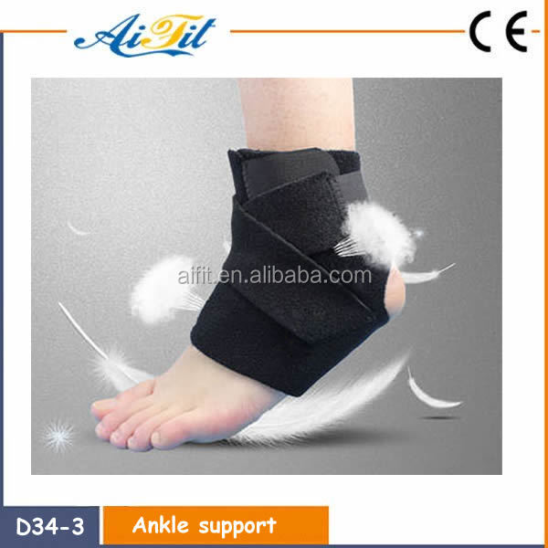 High quality Sports neoprene elastic Ankle support / Ankle brace/ Ankle pad wholesale