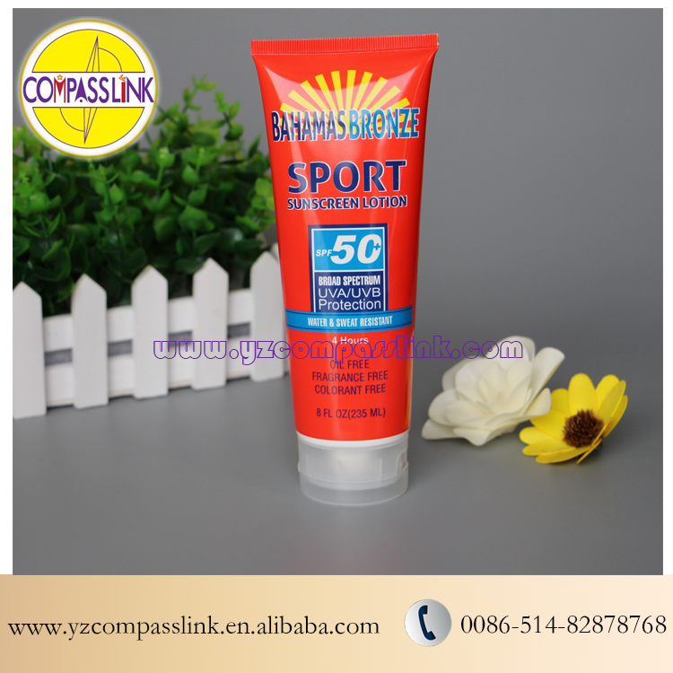 235ml Offset Color Tubes Packaging For SPF50 Sport Sunscreen Protection