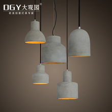 china wholesale concrete cement hanging lamps best gray color cement pendant light