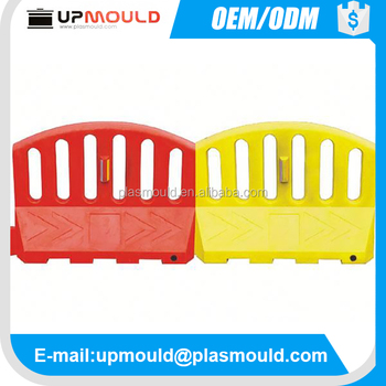 custom design Plastic road barriers injection mould