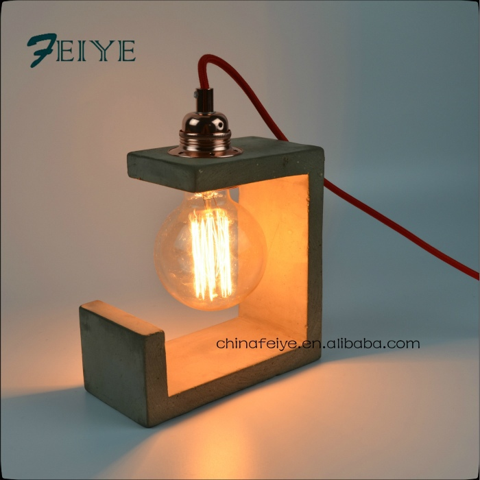 concrete table lamp with textile cord concrete pendant lamp
