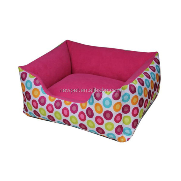 Excellent quality stylish design folding soft pet house canvas stripe dog bed