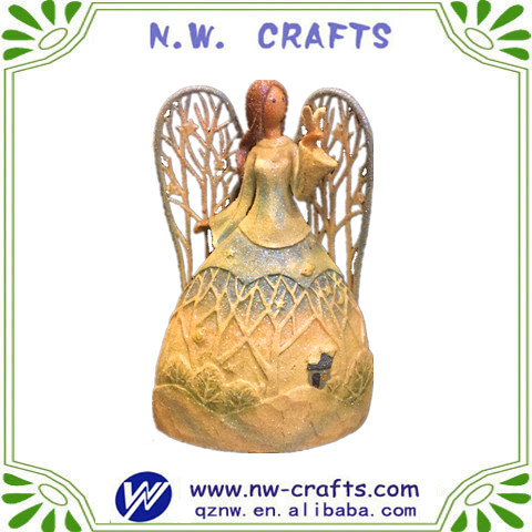 Factory price resin innovative fairy figurine crafts for garden decoration