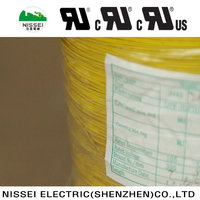 UL3443 26AWG SINGLE CONDUCTOR YELLOW ELECTRIC WIRE