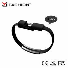 Hot selling promotion gift phone charger cable Wristband Bracelet Charging Cable