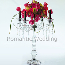 4 arms crystal flower stand candelabra centerpiece for Wedding decorations event products party decorations