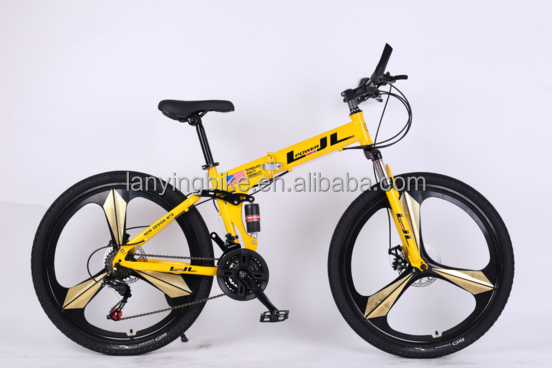 china manufacturer cheap price steel frame mountain bicycle/full suspention folding mountain bike/men bike for adults