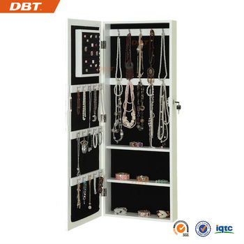 Black modern dressing mirror jewelry armoire