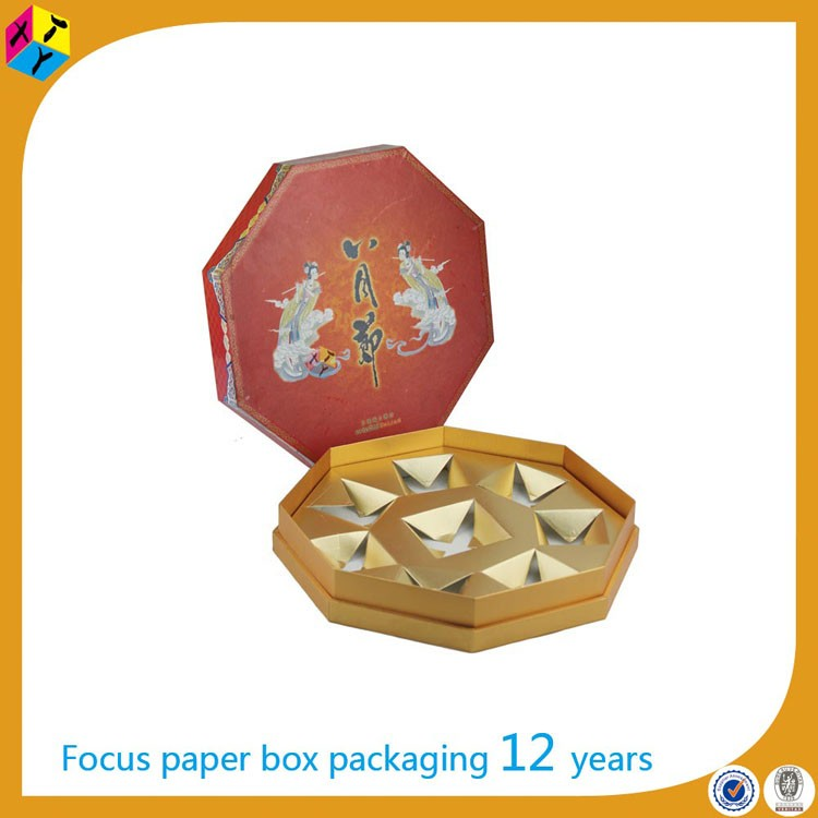 custom octagon shape cardboard gift box