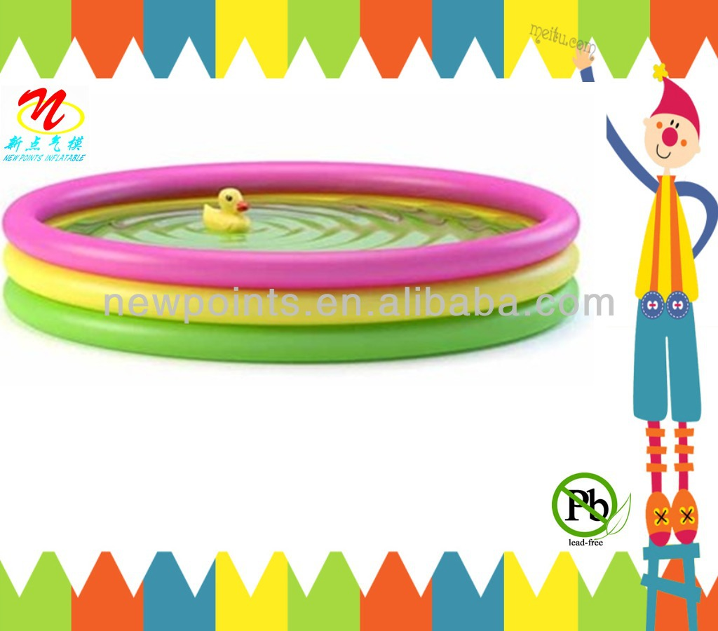 2014 cheap 0.9 mm PVC inflatable kids water pool made in china