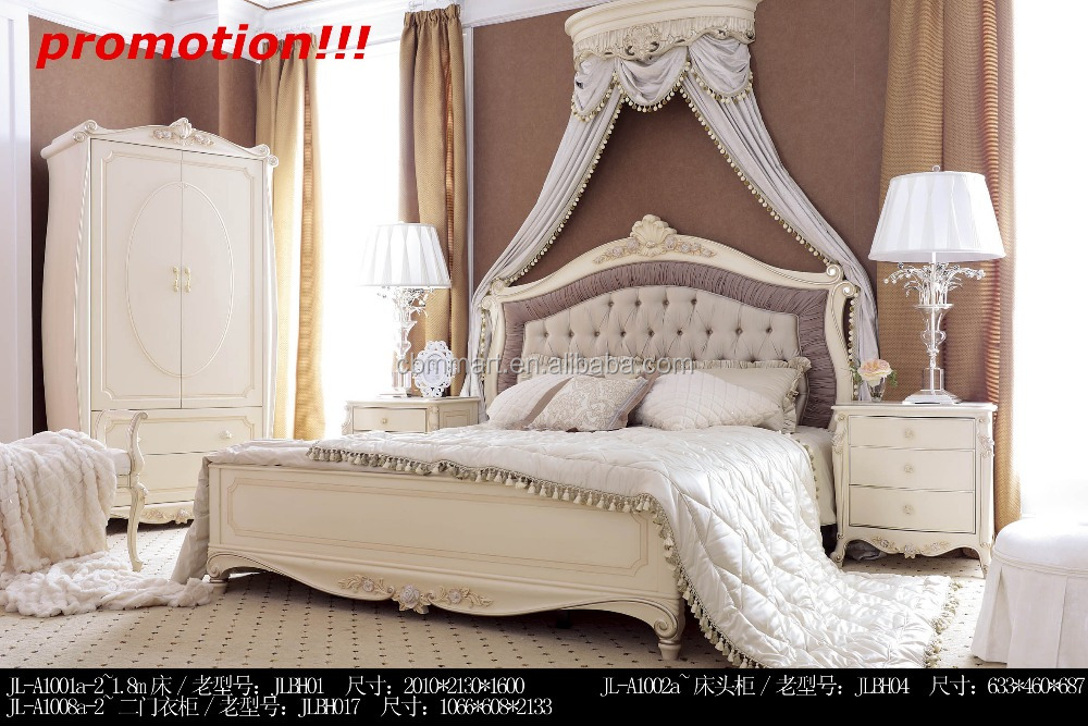 2015 The Antique French Style Luxury Classic Wood Bedroom Furniture set/Used Home Furniture