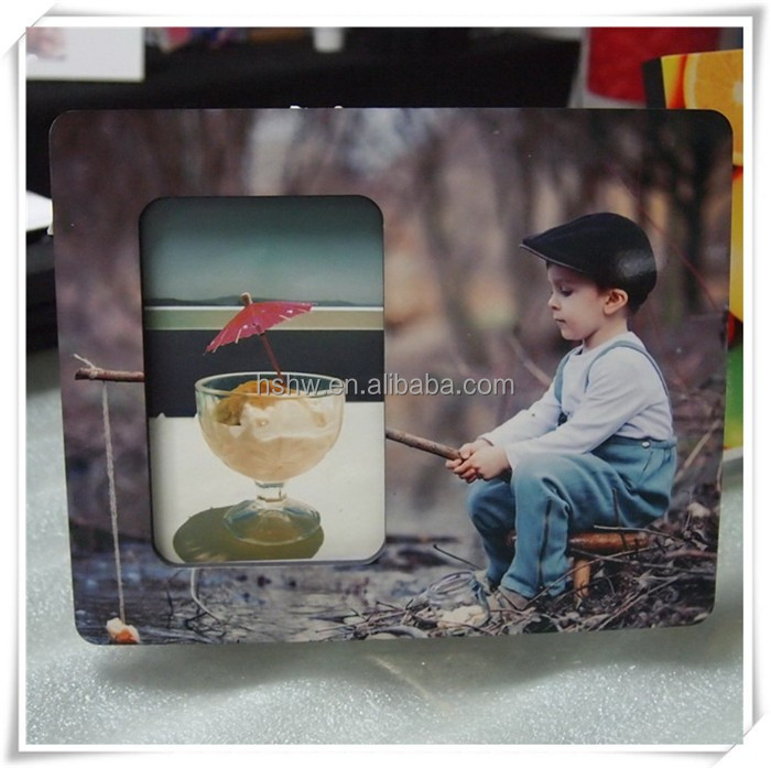 personalized DYE sublimation 6mm MDF photo frame 6X8 inch