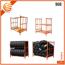 Heavy duty stacking steel truck tire storage rack
