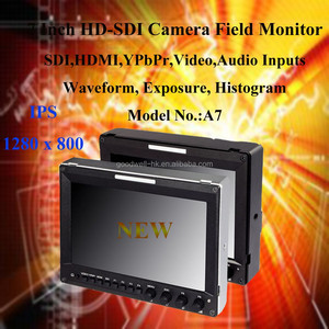 1280x 800 IPS fully featured False Colors HDMI SDI 7 Inch LCD HD SDI Broadcast Monitor for Film Making