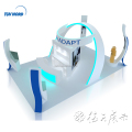 Detian Offer 6x9m special curve exhibition booth design for trade show