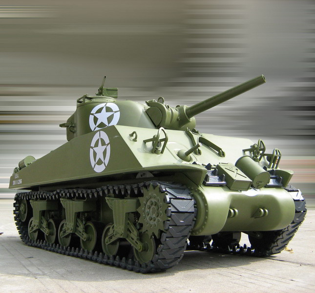 225GT603-1/6 M4A3 Sherman RC Tank - (Gas Powered)